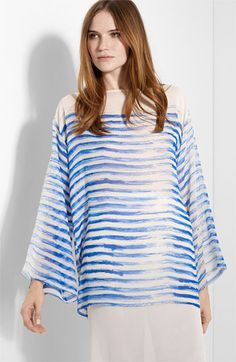 Jean Paul Gaultier Stripe Silk Tunic available at #Nordstrom