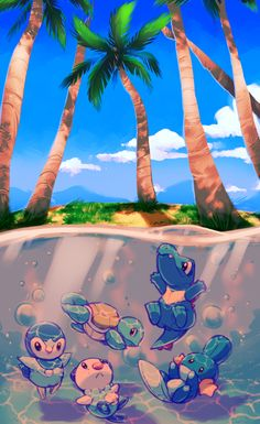 Pokemon First Five Water Starters