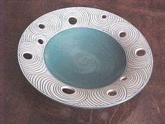 Ceramic art pottery reticulated bowl | Antiques.com