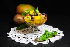 Mango Kiwi Coriander Salsa | Berries and Spice