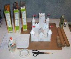 Templates to build castles out of cereal boxes & loo rolls, because everyone needs a castle!