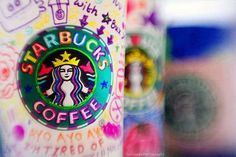 I wish Starbucks cups were this colourful normally. The white and green is so boring