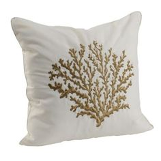$12 Taupe Coral Reef Pillow | Kirkland's
