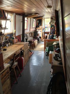 Beautiful unique narrowboat for sale. 'Antler' is an incredibly pretty narrowboat full of hand-craft Barge Interior, Interior Exterior, Best Interior, Interior Design, Canal Boat Interior, Narrowboat Interiors, Houseboat Living, Canal Barge, Japanese Interior