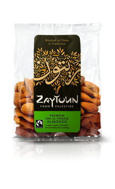 The 'Om Al-Fahem' is a premium almond. This variety, traditionally grown in palestine as it thrives on the arid and rocky terrain, produces a large, sweet almond. Zaytoun almonds are sourced from a farmers cooperative in the Jenin area. Donate To Charity, Latest Recipe, Palestine, Fair Trade, Artisan, Favorite Recipes, Snacks, Cooking, Almonds
