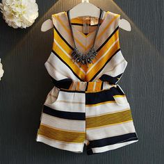 Cheap children set, Buy Quality girls clothing sets directly from China clothing sets Suppliers: Belbello Girls Clothing Sets Summer Sleeveless T-Shirt Kid Short Pants Clothes Shorts Striped Pineapple Casual Children Sets Cute Toddler Girl Clothes, Trendy Baby Clothes, Toddler Girl Outfits, Toddler Fashion, Kids Fashion, Trendy Dresses, Fashion Clothes, Fashion Shoes, Baby Outfits