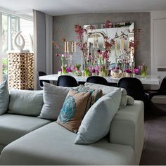 Bright open-plan living room | Living room designs
