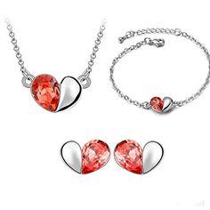 Yantu Luxury Jewelry Crystal Necklace & Earrings & Bracelet Set Wedding Jewelry for Women YANTU http://www.amazon.com/dp/B00PZK413W/ref=cm_sw_r_pi_dp_3-fnvb0AEB0WG