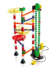 Marble Run & Motorized Elevator Set by Quercetti #zulily #zulilyfinds