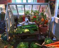 Gromit's in his greenhouse by 。Y。, via Flickr: Model set from the film! #Gromit #Set