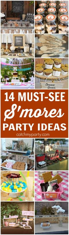14 Must-See S'mores Party Ideas