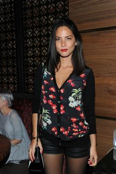 "Olivia Munn wore a pair of 3x1 ""W1"" Moto Coated Mini Shorts in Wash #1/Black Coated, while attending the TAO Downtown Grand Opening in Manhattan. These shorts look exactly like leather shorts, because 3x1 has an awesome way of..."