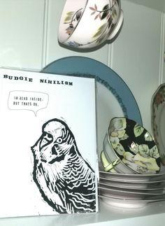 Budgie Nihilism - I'm Dead Inside But that's OK by LizJamesFroud on Etsy