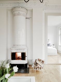 staying cozy by the indoor fire, lounge off master suite