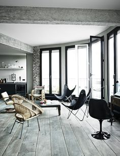 Industrial Paris Loft With Views Over The City - Gravity Loft, ideas, home, house, apartment, decor, decoration, indoor, interior, modern, room, studio.