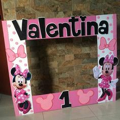 Minnie Mouse Party, Mouse Parties, Mickey Mouse, 2nd Birthday Parties, First Birthdays, Baby Shower, Frame, Diy, Party Ideas