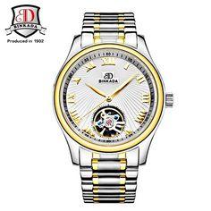 US $77.88 - 2017 BINKADA Watch Men Fashion Relogio Masculino Automatic Mechanical Gold Skeleton Watch 2017 Mens Watch Top Brand Luxury