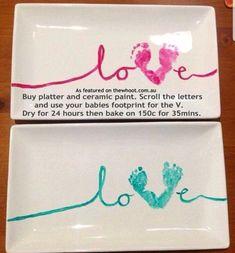 Diy Baby Gifts For Grandparents Parents Best Ideas Craft Gifts, Diy Gifts, Crafts To Do, Crafts For Kids, Baby Footprints, Baby Keepsake, Keepsake Crafts, Mothers Day Crafts, Baby Art