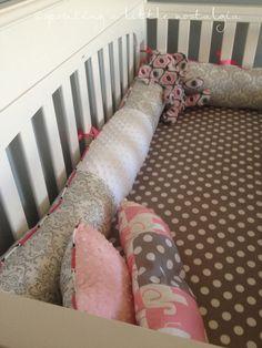 sprouting a little nostalgia: DIY Crib Bedding