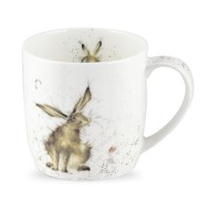 Royal Worcester Wrendale Good Hare Day Bone China Mug Wrendale Designs Country
