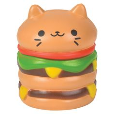 Shop GEDDES for hundreds of fun and affordable school supplies and toys like our Squish Cat Burger Toy. Godzilla Toys, Cute Squishies, Paw Patrol Toys, Tinker Toys, Novelty Toys, Cute Clay, Toy Trucks, Disney Toys, Plushies