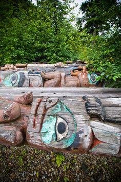 Klawock, Alaska | totems return to nature at a designated site in the town of Klawock ...