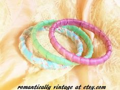 Shabby Chic Bracelets Summer Pastel Bangles by RomanticallyVintage