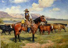 Jack Sorenson Solid-Faced Canvas Print Wall Art Print entitled A Good Hand Cowboy Horse, Cowboy Art, Wall Art Prints, Poster Prints, Wyoming Cowboys, Cody Wyoming, Art Grants, West Art, Le Far West