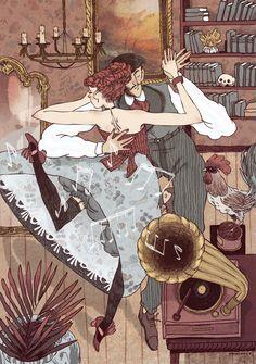Descubrí las ilustraciones de Núria Tamarit y, desde entonces, sigo su trabajo. Hablamos de sus ilustraciones manuales con coloreado digital.
