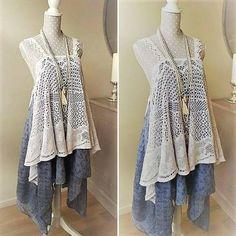 Maxi robe bohème en dentelle vintage. Robe de plage hippie, bleu denim. Robe bain de soleil gypsy, vêtement de festival, style Stevie Nicks de la boutique PinkWaterShop sur Etsy