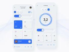 Neumorphism Smart Home app designed by Vadim Marchenko. Connect with them on Dribbble; Dashboard Design, App Ui Design, Web Design Trends, Interface Design, User Interface, Smart Home Design, Ui Design Inspiration, Ui Web, Mobile Design