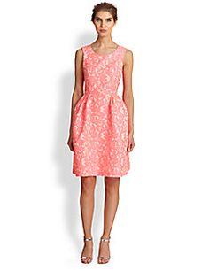 Pink Tartan - Willow Kelly Lace Jacquard Dress