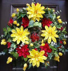 Ladybug Wreath Summer Wreaths XL Door Wreaths