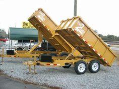 6 x 10 7k and 7 x 14 14k dump trailers.