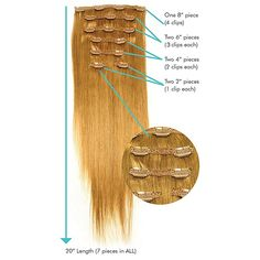 A quick visual guide of what you get with the Leyla Milani clip in hair extensions!  #clip-in-hair-extensions#leyamilanihair