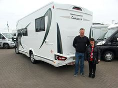 Chausson 768 Welcome Premium Handover  Wayne & Jane are pictured taking delivery of their first new Motorhome.  It`s the all new, very impressive 2019 Chausson 768 Welcome Premium, on the equally impressive Ford Transit motorhome chassis.  Wayne & Jane are from Bexley-Heath, and chose the 768 Welcome Premium at the Birmingham Motorhome Show last October, as it offered a layout they liked and has a quality that they couldn't find in any other similarly priced motorhomes. Ford Transit, Fiat, Motorhome, Welcome, Birmingham, Recreational Vehicles, October, It Is Finished, Delivery