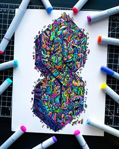 Behind The Scenes By art_quil Cute Doodle Art, Doodle Art Designs, Doodle Art Drawing, Cute Doodles, Graffiti Doodles, Graffiti Drawing, Epic Drawings, Art Drawings Sketches Simple, Vexx Art
