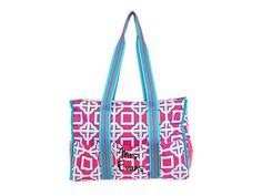 Monogrammed Pink Charmer Organize It Tote from All for Color