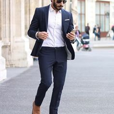 Image may contain: one or more people, people standing, shoes, suit and beard Stylish Mens Fashion, Mens Fashion Suits, Mens Suits, Stylish Menswear, Men's Fashion, Formal Men Outfit, Formal Wear, Groomsmen Suits, Black Suits