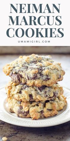 This is the famous Neiman Marcus cookie recipe thats been delighting families for generations. This recipe makes a huge batch of epic chocolate chip cookies so you can bake some now and freeze some dough balls for later or to share with friends. Cookie Desserts, Just Desserts, Delicious Desserts, Dessert Recipes, Cooking Cookies, Cookie Favors, Neiman Marcus Cookie Recipe, Neiman Marcus Cookies, Best Cookie Recipes