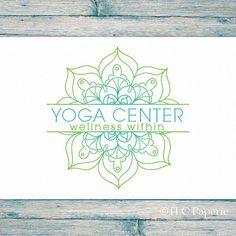 Mandala Logo Design Custom Logo Yoga Logo Soap Logo by TLCPaperie More
