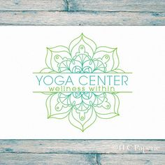 Mandala Logo Design Custom Logo Yoga Logo Soap Logo by TLCPaperie More