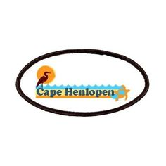 Cape Henlopen DE - Horseshoe Design Patches on CafePress.com