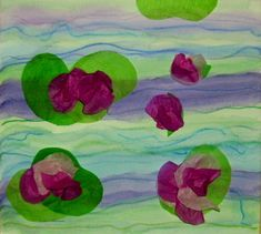 Monet's Water Lily project for kids