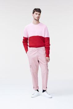 Dondup Spring 2018 Menswear Fashion Show Colored Pants, Fashion Show Collection, Color Pop, Colour, Sportswear, Street Wear, Men Sweater, Mens Fashion, Milan Fashion