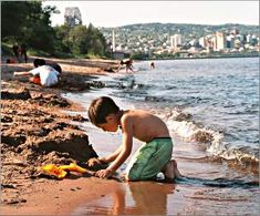 Duluth rocks!  With a pizza train, a bike path and beaches lined with boulders, this is a kid's kind of town.