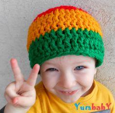 Child Rasta Beanie Boy Hats Toddler Costume Boy Hat Red by YumbabY, $12.95