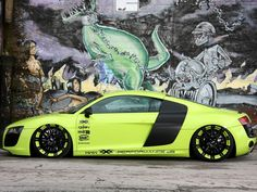 Audi R8 Black And Yellow