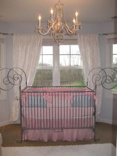 Our Baby Girl's Pink and Gray Nursery is a Picture of Modern Enchanted Elegance: The challenge in decorating our baby's elegant modern nursery decor was that what I came up with had to be gender neutral because we didn't know the sex