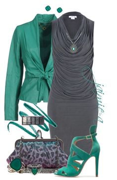 """Teal & Gray"" by jaimie-a on Polyvore"